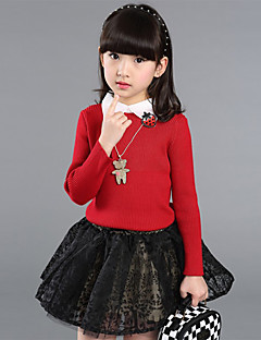 Girl's Casual/Daily Floral Sweater & CardiganWool Spring / Fall Black / Red / White