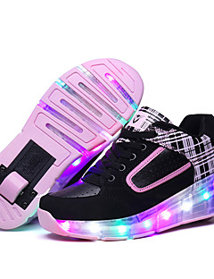 LED Light Up Shoes, Kid Boy Girl's wheely's Roller Skate Shoes / Ultra-light One Wheel Skating Shoes / Athletic / Casual Shoes Black Pink
