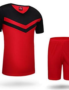 Herre Fodbold Shirt + Shorts Tøjsæt/Jakkesæt Vandtæt Åndbart Hold Varm Hurtigtørrende Vindtæt Forside Lynlås Forår EfterårFornøjelse
