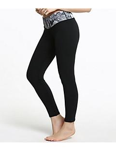 calças de yoga Meia-calça / FundosRespirável / Mantenha Quente / Secagem Rápida / Forro de Velocino / Anti-Derrapagem / Antibacteriano /