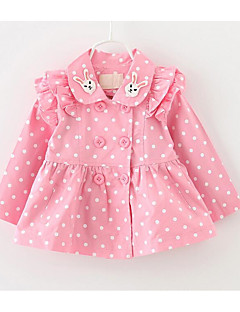 Girl Trench Coat,Cotton Long Sleeve