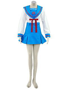Inspirovaný Suzumiya Haruhi Cosplay Anime Cosplay kostýmy Cosplay šaty Jednobarevné Sukně Mašle Pro