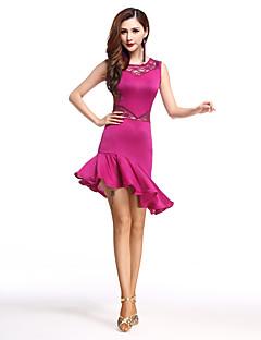 我々はラテンダンスドレス女性スパンデックスレースハイダンスの衣装をしなければならない