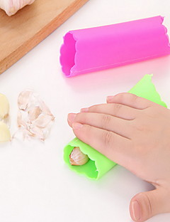 1 stk Hvidløg Peeler & rivejern For til grønsager Plastik Høj kvalitet Miljøvenlig Kreativ Køkkengadget
