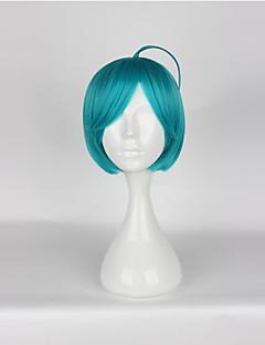 Cosplay Wigs Cosplay Cosplay Green Short Anime/ Video Games Cosplay Wigs 35 CM Heat Resistant Fiber Unisex