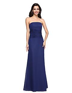 Sütun Straplez Yere Kadar Şifon Resmi Akşam Elbise ile Dantelalar tarafından TS Couture®