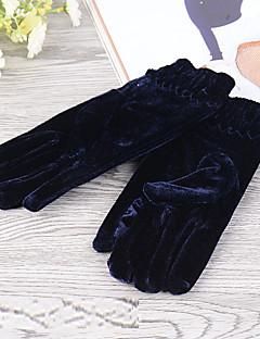 kvinder polyester fingerspidserne håndled længde, solid afslappet vinter