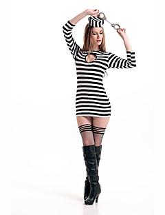 Cosplay Kostýmy Kostým na Večírek Vězeň Kariéra kostýmy Festival/Svátek Halloweenské kostýmy Tisk Šaty Klobouk Halloween Karneval Dámské