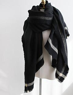 Damer Imiteret pels Halstørklæde-Ensfarvet Rektangulær