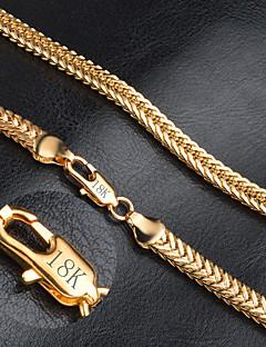 Pánské Dámské Řetízky Zlaté Módní bižuterie Šperky Pro Svatební Párty Denní Ležérní Vánoční dárky