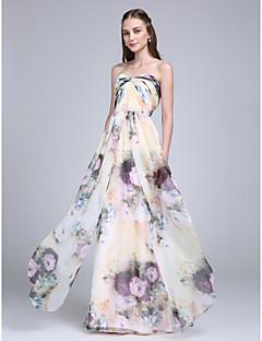 LAN TING BRIDE Na zem Srdce Šaty pro družičky - vzor šaty Bez rukávů Šifón