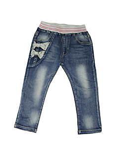 Girl Going out / Casual/Daily / School Embroidered Jeans-Denim All Seasons