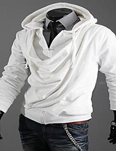 Для мужчин На каждый день На выход Секси Милые Толстовка Однотонный Слабоэластичная Хлопок Длинный рукав зима