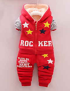 Boy Casual/Daily Solid / Print Sets,Cotton Winter / Fall Long Sleeve Clothing Set
