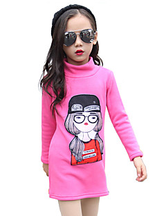Girl Cotton Fashion Spring/Fall/Winter Going out/Casual/Daily Cartoon Print Turtleneck Long Sleeve Thicken Sweatshirt