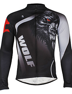 Men's Windproof Long Sleeves Winter Thermal Cycling Bicycle Jersey Jacket ZRCX719