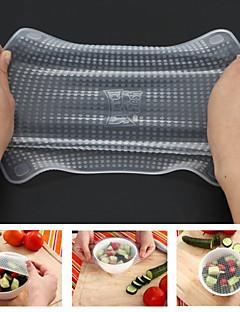 condiment 'n lingură de copt&mașină de spălat vase capace de silicon în condiții de siguranță, 4-pack