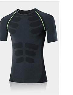 Homens Unisexo Manga Curta Corrida Camiseta Secagem Rápida Respirável Redutor de Suor Confortável Primavera Verão Moda EsportivaIoga