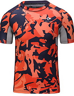 Men's Short Sleeve Running Base Layers Quick Dry Breathable Sweat-wicking Spring Summer Winter Fall/Autumn Sports WearExercise & Fitness