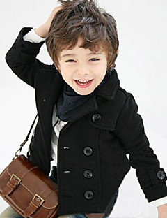 Boy's Cotton Fashion Solid Color Black Spring/Fall/Winter Going out/Daily Warm Small Leisure Suit Children Dresswear Coat