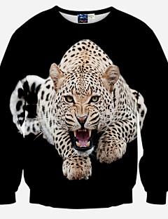 Herre Casual/hverdag Sport Natklub Aktiv Street Punk & Gotisk Sweatshirt 3D Print Overdimensionerede Rund hals Polyester Mikroelastisk