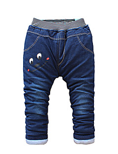 Boy's Cotton Fashion Cartoon Eye Print Spring/Fall/Winter Going out/Casual/Daily Warm Children Heavy Padded Pants
