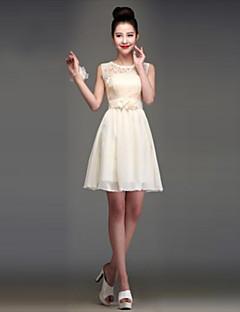 Knee-length Chiffon Mix & Match Sets / Elegant / Lace-up Bridesmaid Dress - Ball Gown Halter / Jewel / One Shoulder / Strapless / V-neck