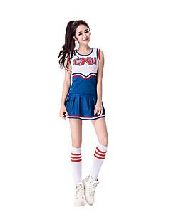Cosplay Kostuums Feestkostuum carrière Kostuums Cheerleaderpakjes Festival/Feestdagen Halloweenkostuums Wit Blauw EffenTop Rok Meer