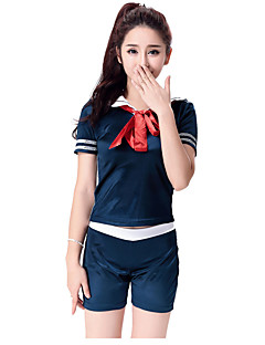 Cosplay Costumes Party Costume Student/School Uniform Career Costumes Sailor/Navy Festival/Holiday Halloween Costumes Blue SolidTop