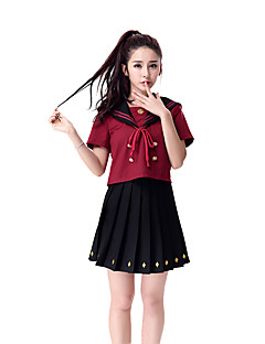 Cosplay Costumes Student/School Uniform Career Costumes Festival/Holiday Halloween Costumes Solid Top Skirt Halloween Carnival Female