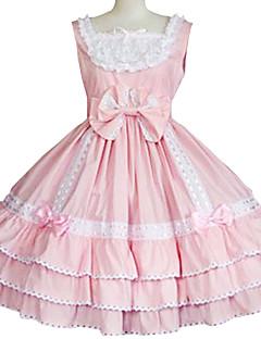 One-Piece/Dress Sweet Lolita Princess Cosplay Lolita Dress Solid Sleeveless Knee-length Dress For Cotton