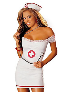 Cosplay Costumes Party Costume Career Costumes Nurse Festival/Holiday Halloween Costumes White Color Block Skirt HatsHalloween Christmas