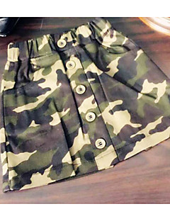 Girl Going out Casual/Daily School Patchwork Skirt-Others Spring Fall