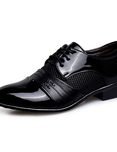 Men's Oxfords Spring Fall Novelty Bullock shoes Formal Shoes PU Wedding Casual Party & Evening Flat Heel Sequin Lace-up Black Light Brown