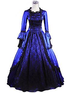 Uma-Peça/Vestidos Gótica Lolita Clássica e Tradicional Inspiração Vintage Elegant Vitoriano Rococo Princesa Cosplay Vestidos Lolita Floral