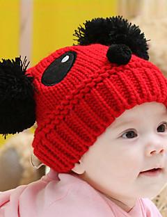 Mädchen Jungen Hüte & Kappen Winter Strickware Braun Rot Weiß