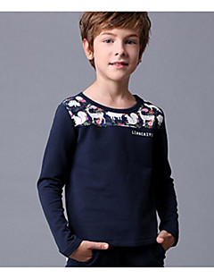 Boy Going out Casual/Daily Sports Solid Embroidered Tee,Cotton Winter Fall