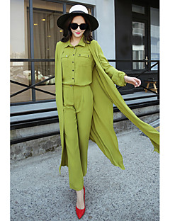 2016 early spring long paragraph vest elegant shirt + cardigan + Fashion OL pants feet Parure