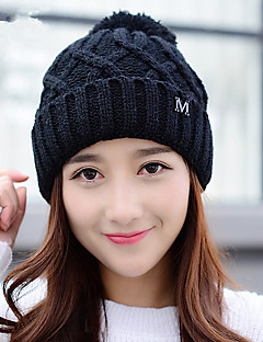 Winter New Cashmere Letters M Simple Wool Tide Tide Models Knitted Cap Warm Hat