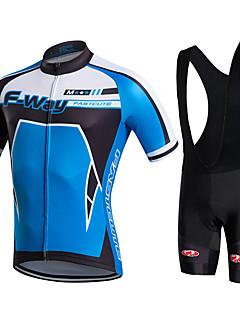fastcute חולצת ג'רסי ומכנס קצר ביב לרכיבה לגברים שרוול קצר אופנייםנושם ייבוש מהיר חדירות ללחות חומרים קלים 3D לוח מפחית שפשופים תומך זיעה