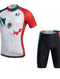 Miloto חולצת ג'רסי ומכנס קצר לרכיבה לגברים שרוול קצר אופנייםנושם ייבוש מהיר חדירות ללחות חומרים קלים 3D לוח רצועות מחזירי אור מפחית