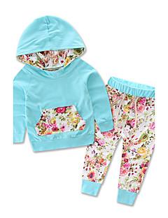 Mädchen Sets Ausgehen Lässig/Alltäglich Urlaub Druck Baumwolle Polyester Frühling Herbst Lange Ärmel Kleidungs Set