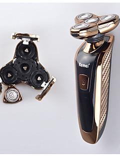 Elektrisk barbermaskin Ansikt Elektrisk Dreibart Hode Smøremiddel Dispenser Tør Barbering Rustfritt stål