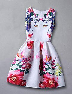 Mädchen Kleid Blumen Kunstseide Sommer Frühling Herbst Ärmellos