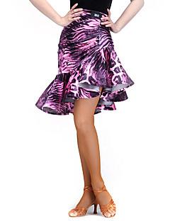 라틴 댄스 하위 여성용 훈련 스판덱스 벨벳 무늬/그림 1개 내츄럴 나와 61-62,63-64,64-65