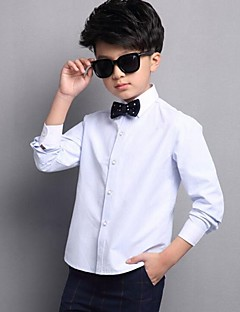 Boy Casual/Daily Solid Shirt,Cotton Spring Long Sleeve