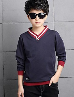 Boy Casual/Daily Patchwork Tee,Cotton Spring Fall Long Sleeve