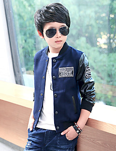 Boy Casual/Daily Holiday School Print Suit & Blazer,Cotton Spring Fall Long Sleeve