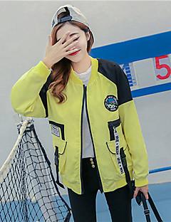 Damen Druck Einfach Lässig/Alltäglich Jacke,Ständer Frühling Langarm Standard Baumwolle