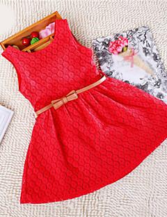 Κορίτσια Φόρεμα Μείγμα Βαμβακιού Ζακάρ Καλοκαίρι Ροζ / Μωβ / Κόκκινο